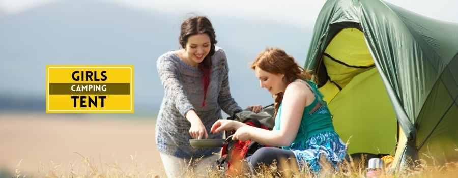 girls camping tent